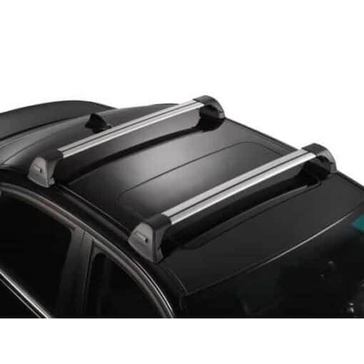 Whispbar Dakdragers (Zilver) Kia Soul EV 5dr Hatch met Glad dak bouwjaar 2014 - e.v. Complete set dakdragers