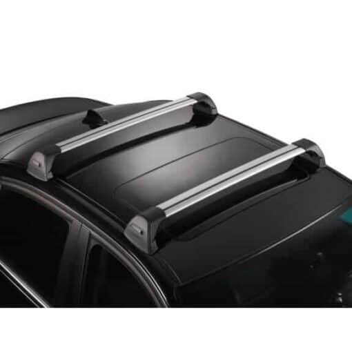 Whispbar Dakdragers (Zilver) Mitsubishi Mirage 5dr Hatch met Glad dak bouwjaar 2016 - e.v. Complete set dakdragers