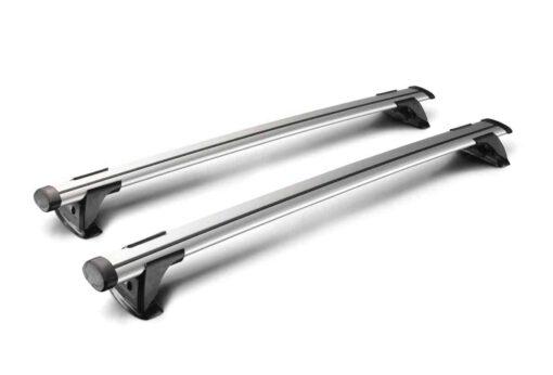 Whispbar Dakdragers (Zilver) Nissan Pulsar 5dr Hatch met Glad dak bouwjaar 2013 - e.v.|Complete set dakdragers