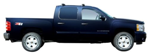 Whispbar Dakdragers Zwart Chevrolet Silverado Crew Cab 4dr Ute met Glad Dak bouwjaar 2007-e.v. Complete set dakdragers