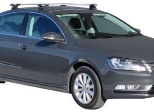 Whispbar Dakdragers Zwart Volkswagen Passat 4dr Sedan met Glad Dak bouwjaar 2010-2014 Complete set dakdragers