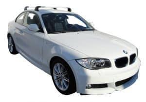 Whispbar Dakdragers Zilver BMW 1 Series E82 2dr Coupe met Vaste Bevestigingspunten bouwjaar 2007-2013 Complete set dakdragers