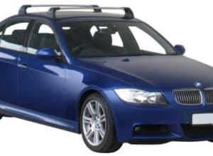 Whispbar Dakdragers Zwart BMW 3 Series E90 4dr Sedan met Vaste Bevestigingspunten bouwjaar 2005-2012 Complete set dakdragers