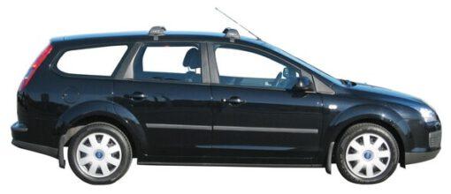 Whispbar Dakdragers Zwart Ford Focus 5dr Estate met Glad Dak bouwjaar 2004-2008 Complete set dakdragers