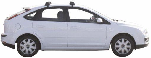 Whispbar Dakdragers Zwart Ford Focus 5dr Hatch met Glad Dak bouwjaar 2004-2008 Complete set dakdragers