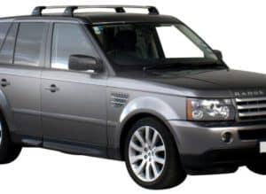 Whispbar Dakdragers Zwart Land Rover Range Rover Sport 5dr SUV met Vaste Bevestigingspunten bouwjaar 2004-2012 Complete set dakdragers