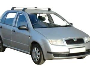 Whispbar Dakdragers Zwart Skoda Fabia 5dr Hatch met Vaste Bevestigingspunten bouwjaar 1999-2007 Complete set dakdragers