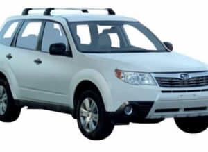 Whispbar Dakdragers Zilver Subaru Forester 5dr SUV met Vaste Bevestigingspunten bouwjaar 2008-2012 Complete set dakdragers