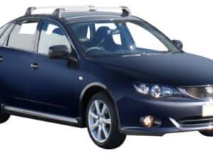 Whispbar Dakdragers Zilver Subaru Impreza Mk3 4dr Sedan met Vaste Bevestigingspunten bouwjaar 2007-2012 Complete set dakdragers