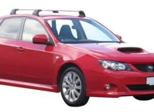 Whispbar Dakdragers Zwart Subaru Impreza Mk3 5dr Hatch met Vaste Bevestigingspunten bouwjaar 2007-2012 Complete set dakdragers