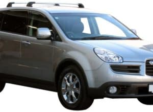 Whispbar Dakdragers Zwart Subaru Tribeca 5dr SUV met Vaste Bevestigingspunten bouwjaar 2006-2007 Complete set dakdragers