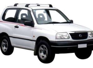 Whispbar Dakdragers Zilver Suzuki Escudo 3dr SUV met Vaste Bevestigingspunten bouwjaar 1998-2004 Complete set dakdragers