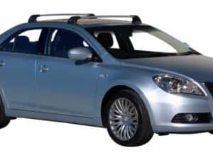 Whispbar Dakdragers Zilver Suzuki Kizashi 4dr Sedan met Vaste Bevestigingspunten bouwjaar 2010-2015 Complete set dakdragers