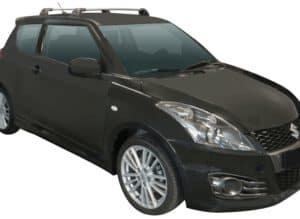Whispbar Dakdragers Zwart Suzuki Swift 3dr Hatch met Vaste Bevestigingspunten bouwjaar 2010-2016 Complete set dakdragers
