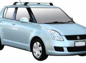 Whispbar Dakdragers Zwart Suzuki Swift 5dr Hatch met Vaste Bevestigingspunten bouwjaar 2004-2010 Complete set dakdragers