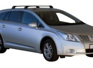Whispbar Dakdragers Zwart Toyota Avensis 5dr Estate met Vaste Bevestigingspunten bouwjaar 2009-e.v. Complete set dakdragers