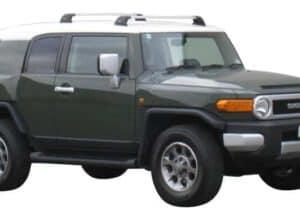 Whispbar Dakdragers Zilver Toyota FJ Cruiser 5dr SUV met Vaste Bevestigingspunten bouwjaar 2007-e.v. Complete set dakdragers