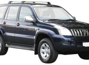 Whispbar Dakdragers Zwart Toyota Land Cruiser 120 Series (2 Bar) 5dr SUV met Vaste Bevestigingspunten bouwjaar 2003-2009 Complete set dakdragers