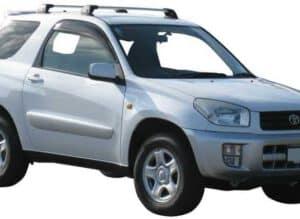 Whispbar Dakdragers Zwart Toyota Rav 4 3dr SUV met Vaste Bevestigingspunten bouwjaar 2000-2006 Complete set dakdragers