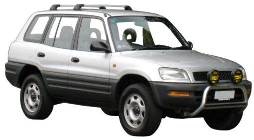 Whispbar Dakdragers Zwart Toyota Rav 4 5dr SUV met Vaste Bevestigingspunten bouwjaar 1994-2000 Complete set dakdragers
