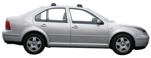Whispbar Dakdragers Zwart Volkswagen Bora 4dr Sedan met Vaste Bevestigingspunten bouwjaar 1999-2005 Complete set dakdragers