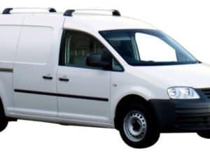 Whispbar Dakdragers Zwart Volkswagen Caddy 4dr Van met Vaste Bevestigingspunten bouwjaar 2004-2014 Complete set dakdragers