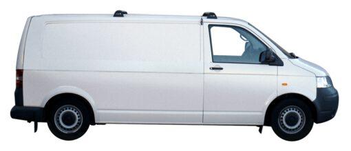 Whispbar Dakdragers Zwart Volkswagen Caravelle T5 4dr Van met Vaste Bevestigingspunten bouwjaar 2003-2015 Complete set dakdragers