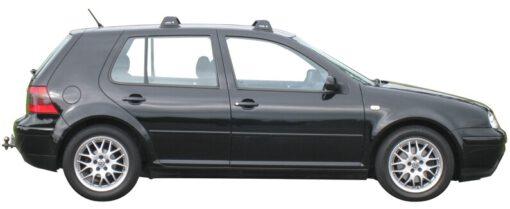 Whispbar Dakdragers Zwart Volkswagen Golf Mk4 5dr Hatch met Vaste Bevestigingspunten bouwjaar 1997-2003 Complete set dakdragers