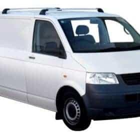 Whispbar Dakdragers Zwart Volkswagen Transporter T5 LWB (2 Bar) 4dr Van met Vaste Bevestigingspunten bouwjaar 2003-2015 Complete set dakdragers