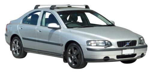 Whispbar Dakdragers Zwart Volvo S60 4dr Sedan met Vaste Bevestigingspunten bouwjaar 2000-2009 Complete set dakdragers