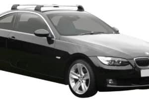 Whispbar Dakdragers Zilver BMW 3 Series E92 2dr Coupe met Vaste Bevestigingspunten bouwjaar 2006-2013 Complete set dakdragers
