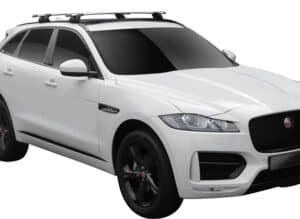Whispbar Dakdragers Zwart Jaguar F-Pace 5dr SUV met Geintegreerde dakrails bouwjaar 2016-e.v. Complete set dakdragers