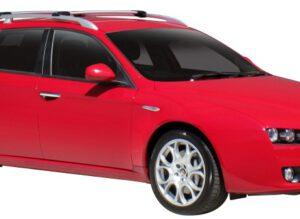 Whispbar Dakdragers Zilver Alfa Romeo 159 5dr Estate met Dakrails bouwjaar 2006-e.v. Complete set dakdragers