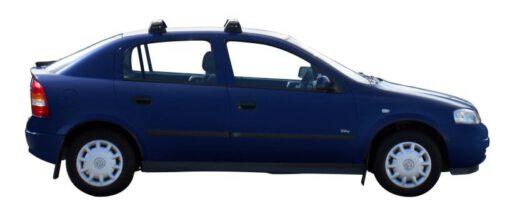 Whispbar Dakdragers Zilver Opel Astra 5dr Hatch met Vaste Bevestigingspunten bouwjaar 1998-2003 Complete set dakdragers