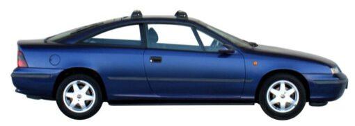 Whispbar Dakdragers Zilver Opel Calibra 2dr Coupe met Vaste Bevestigingspunten bouwjaar 1989-1997 Complete set dakdragers