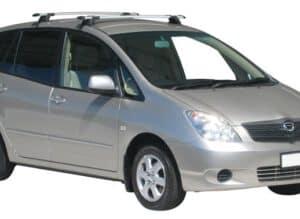 Whispbar Dakdragers Zilver Toyota Corolla Verso 5dr MPV met Glad Dak bouwjaar 2001-2006 Complete set dakdragers