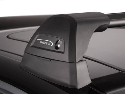 Whispbar Dakdragers Zwart Audi Q5/SQ5 5dr SUV met Geintegreerde dakrails bouwjaar 2008-2016 Complete set dakdragers