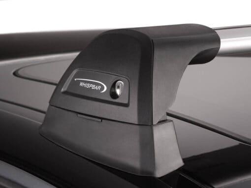 Whispbar Dakdragers Zilver Volkswagen Bora 4dr Sedan met Vaste Bevestigingspunten bouwjaar 1999-2005 Complete set dakdragers