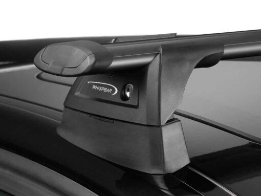 Whispbar Dakdragers Zwart Seat Altea XL 5dr Hatch met Geintegreerde dakrails bouwjaar 2006-e.v. Complete set dakdragers