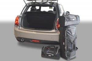 Mini One - Cooper (F56 - Mk III) 2014-heden 3d Car-Bags reistassenset met Britse vlag logo
