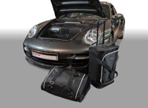 Porsche 911 (997) 2004-2012 Car-Bags reistassenset (4WD zonder CD wisselaar of met CD-wisselaar bovenop het schutbord)