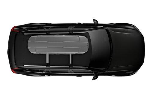 Thule Motion XT Sport Silver op auto bovenzijde