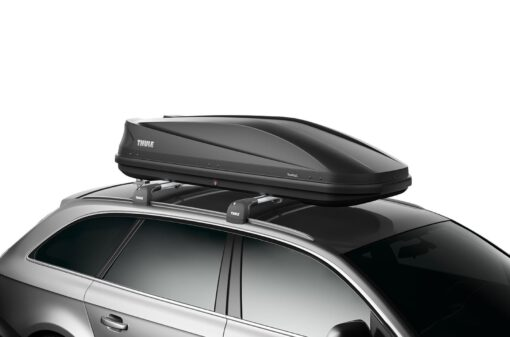Thule Touring 780 Anthracite Aeroskin schuin