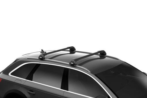 Thule Evo Flush rail met WingBar Edge Black compleet op auto-min